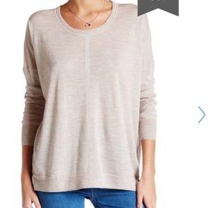 Madewell Merino Wool Pullover Sweater Tan